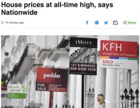 英房价创下04年以来单月最大涨幅 抵押贷款批准量猛增